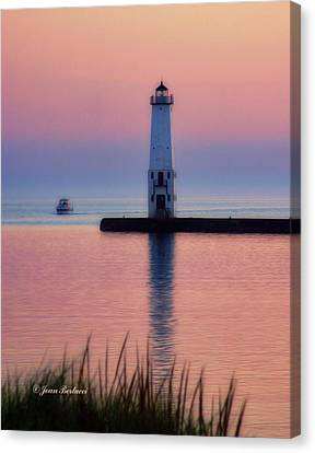 Canvas Print featuring the photograph Frankfort Lighthouse by Joan Bertucci