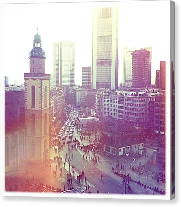 Frankfurt Downtown Canvas Print by Ixefra