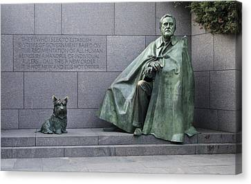 Franklin Delano Roosevelt Memorial - Washington Dc Canvas Print by Brendan Reals