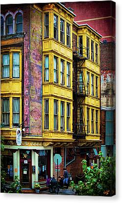 Fire Escape Canvas Print - Franklin Fountain by Chris Lord