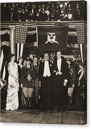 Franklin Roosevelt Inaugurated Canvas Print by Everett