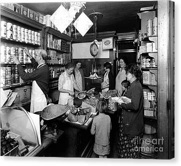 Fred Grovers Grocery Store Canvas Print