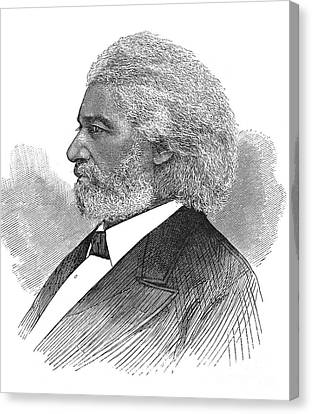 Frederick Douglass (c1817-1895). American Abolitionist. Wood Engraving, American, 1877 Canvas Print by Granger
