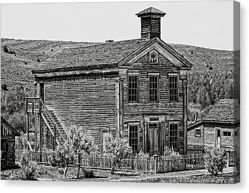 Free Masons Clubhouse - Bannack Montana Ghost Town Canvas Print by Daniel Hagerman