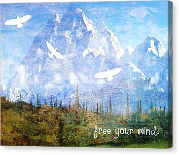Free Your Mind Canvas Print by Tia Helen