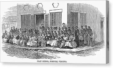 Freedmens School, 1868 Canvas Print by Granger