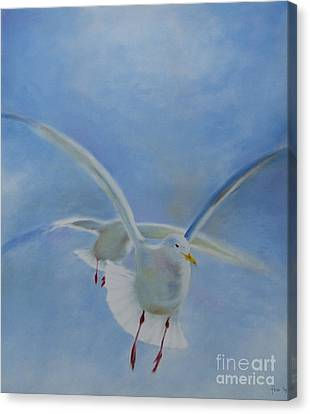 Canvas Print featuring the painting Freedom by Annemeet Hasidi- van der Leij