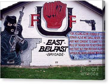 Freedom Corner Mural Belfast Canvas Print by Thomas R Fletcher