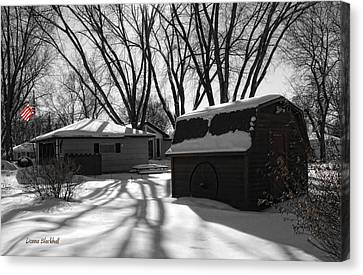 Snow Flag Canvas Print - Freedom From Winter by Donna Blackhall