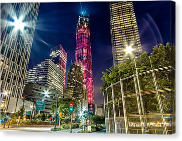 Freedom Tower From West Side Highway. Canvas Print by Val Black Russian Tourchin