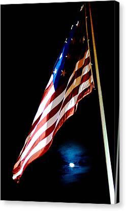 Flag On Federal Hill Canvas Print