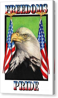 Raptor Canvas Print - Freedoms Pride by Sheryl Unwin