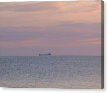 Canvas Print featuring the photograph Freighter by Bonfire Photography