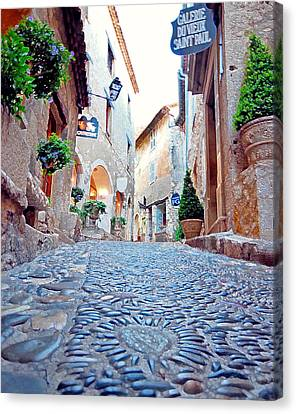 French Alley  Canvas Print by Nian Chen