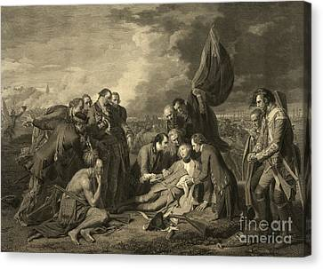 French And Indian War, General Wolfes Canvas Print by Photo Researchers