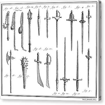 French Chivalric Weapons Canvas Print by Granger