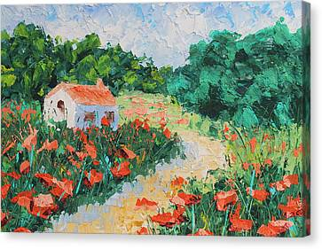 French Cottage Canvas Print by Courtney Hancock