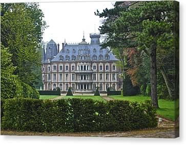 French Country Mansion Canvas Print