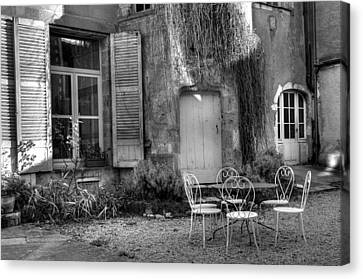 French Garden Canvas Print by Jan Carr