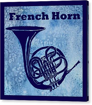 French Horn Canvas Print by Jenny Armitage