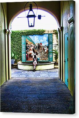 French Quarter Bronze Canvas Print by James Bond