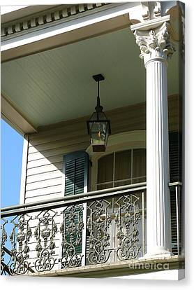 Canvas Print featuring the photograph French Quarter Porch by Jeanne  Woods
