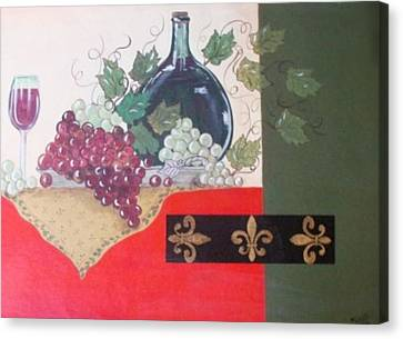 French Wine Canvas Print by Cindy Micklos