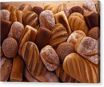 Fresh Bread Loaves Canvas Print by Terry Mccormick