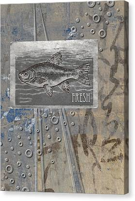 Labelled Canvas Print - Fresh Fish by Carol Leigh