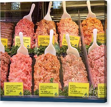 Fresh Ground Meat Canvas Print by David Buffington