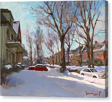 Snowscape Canvas Print - Fresh Snow by Ylli Haruni