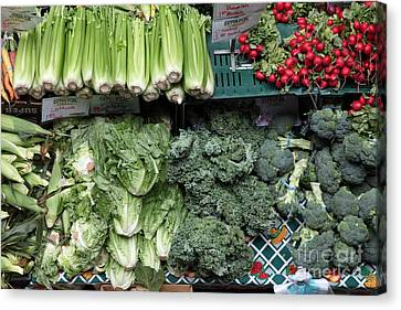 Fresh Vegetables - 5d17911 Canvas Print by Wingsdomain Art and Photography