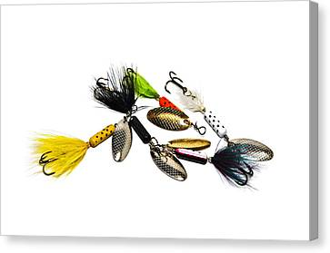 Canvas Print featuring the photograph Freshwater Fishing Lures by Susan Leggett