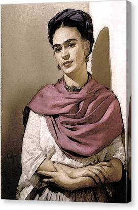 Frida Interpreted 2 Canvas Print by Lenore Senior