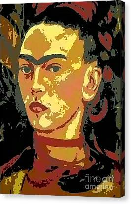 Frida Kahlo - Courage Personified Canvas Print by Angela L Walker