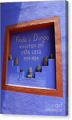 Frida Kahlo Museum Mexico City Canvas Print