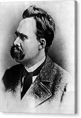 Friedrich Wilhelm Nietzsche, German Canvas Print by Omikron