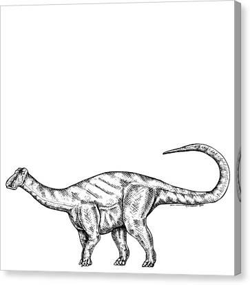 Friendlysaurs - Dinosaur Canvas Print by Karl Addison