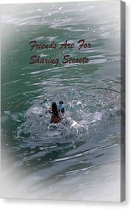 Friends Are For Sharing Secrets Canvas Print by DigiArt Diaries by Vicky B Fuller