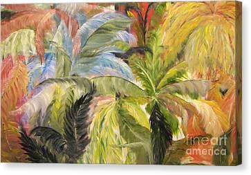 Frolicking Ferns Canvas Print by Rachel Carmichael