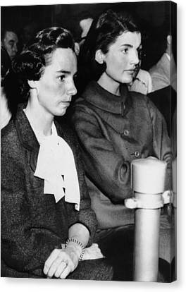 From Left, Ethel Kennedy, Jacqueline Canvas Print by Everett