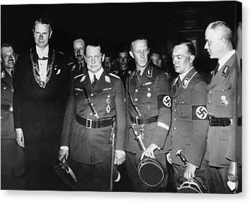 From Left, Nazi Officials Georg Von Canvas Print by Everett