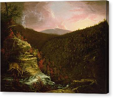 From The Top Of Kaaterskill Falls Canvas Print by Thomas Cole