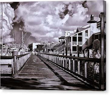 Front Street Boardwalk - Infrared Canvas Print by Bill Barber