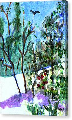 Canvas Print featuring the painting Frosty Morning by Paula Ayers