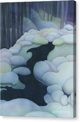 Frozen Brook Canvas Print by Anne Havard