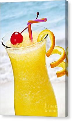 Frozen Tropical Orange Drink Canvas Print by Elena Elisseeva