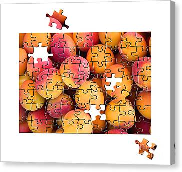 Fruit Jigsaw1 Canvas Print by Jane Rix