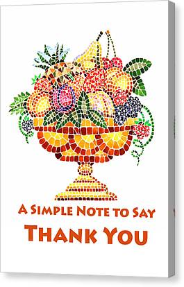 Fruit Mosaic Thank You Note Canvas Print by Irina Sztukowski