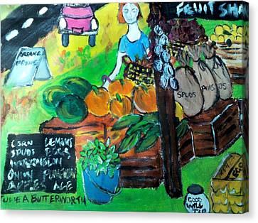 Fruit Shack Canvas Print by Julie Butterworth